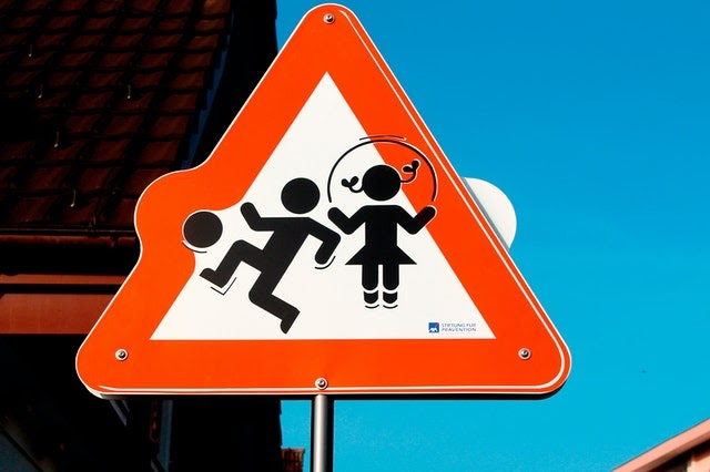 kids, street sign